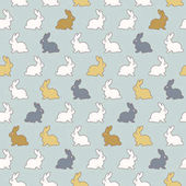 seamless patterns with rabbits