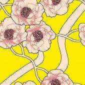 Beautiful pink flowers vector illustration