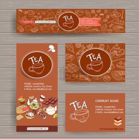 modèle de conception pour la boutique de café et thé