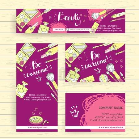 makeup studio or cosmetics shop banners