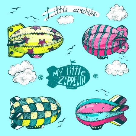 cute little airships set