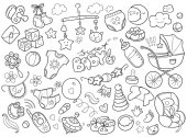 Newborn themed doodle set