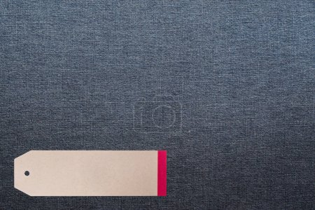 JEANS texture background with tag