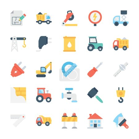 Construction Colored Vector Icons 5