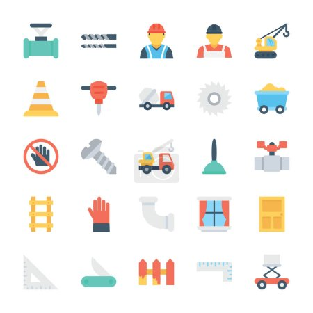 Construction Colored Vector Icons 4