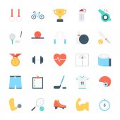 Sports Colored Vector Icons 1