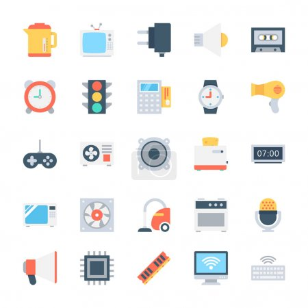Electronics Colored Vector Icons 4