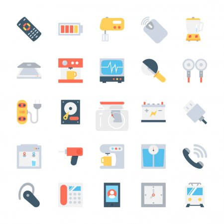 Electronics Colored Vector Icons 5