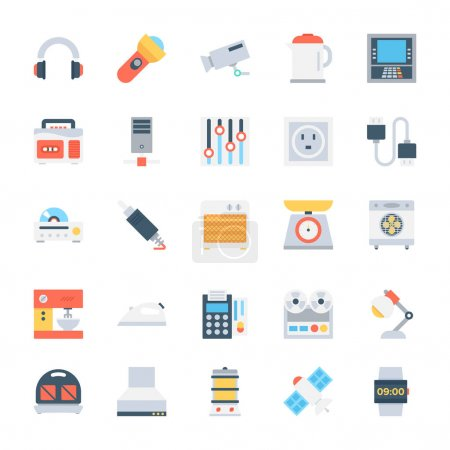 Electronics Colored Vector Icons 6
