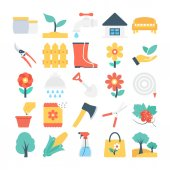Nature and Gardening Vector Icons 2