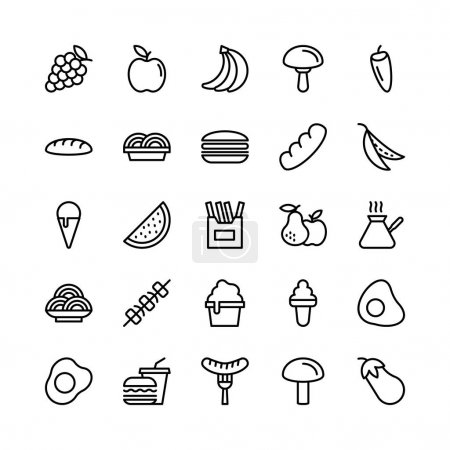 Food Line Vector Icons 6