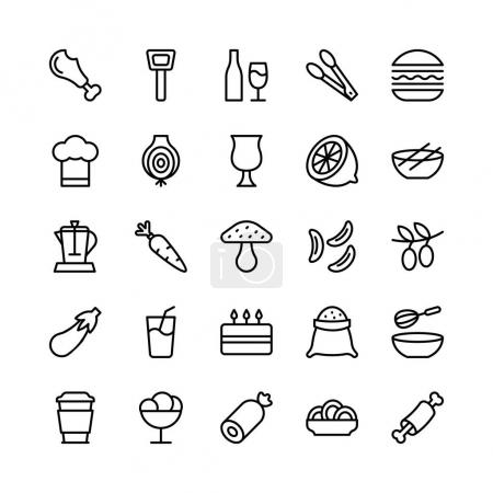 Food Line Vector Icons 13