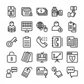 Business and Office Line Vector Icons 14