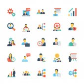 Human Resources and Management Colored Vector Icons 1