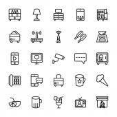 Hotel Line Vector Icons 14
