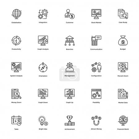 Business and Financial Icons Vector 16