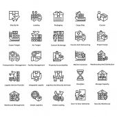 Logistic Delivery Vector Icons Set 2