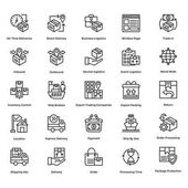 Logistic Delivery Vector Icons Set 1