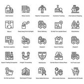 Logistic Delivery Vector Icons Set 11