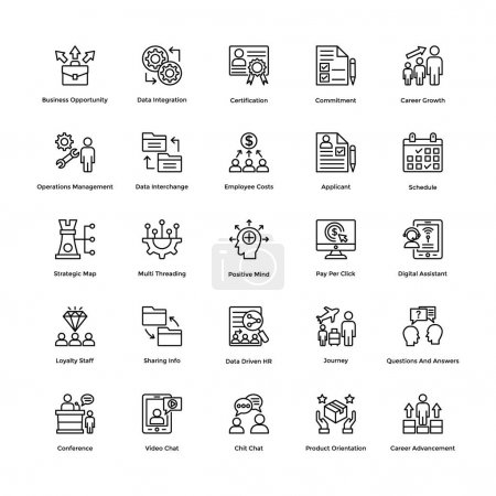 Project Management Vector Icons Set 7