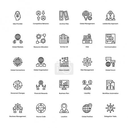 Project Management Vector Icons Set 22