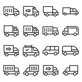 Set of Transport Line Vector Icon