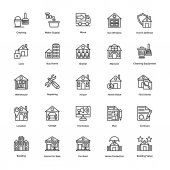 Real Estate Line Vector Icons Set 4