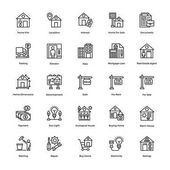 Real Estate Line Vector Icons Set 3