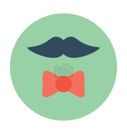 Hipster flat Vector Icon