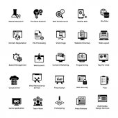 Web and Graphic Designing Glyph Icons Set 3