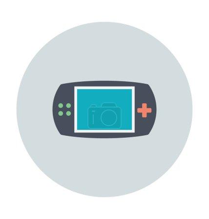 Gameboy farbiges Vektor-Symbol