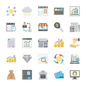 Flat Vector Set of Finance Icons