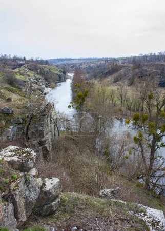 Mountain canyon in the village of Buki, Ukraine