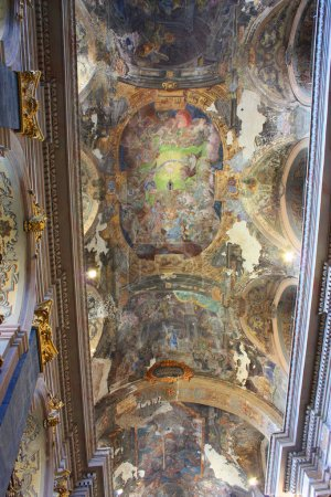 The ceiling of the Jesuit church of St. Peter and Paul in Lviv, Ukraine