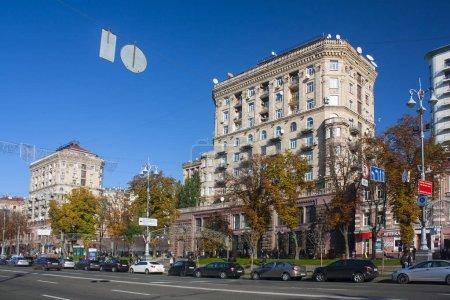 Kiev - October  16, 2017. Kreschatik Street in Kiev, Ukraine