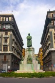 Naples, Italy - March 5, 2018: Monument of Umberto I on the street Nazario Sauro in Naples