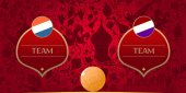 Template for soccer match vector illustration