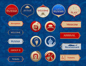 World of Russia set of icons vector templates