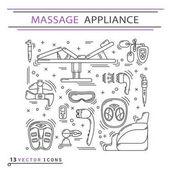 Massage appliance - Icon set