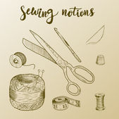 Set of sewing accessoriesVector illustration