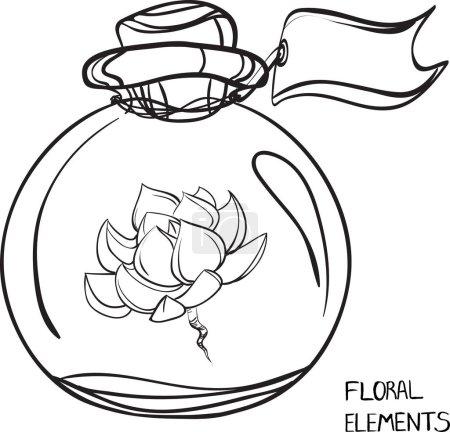 Glass Bottle.Succulent.