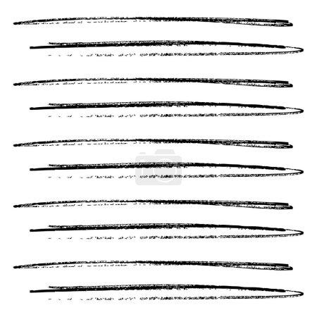 Illustration pour Motif de bandes horizontales dessinées à la main, fond vectoriel - image libre de droit