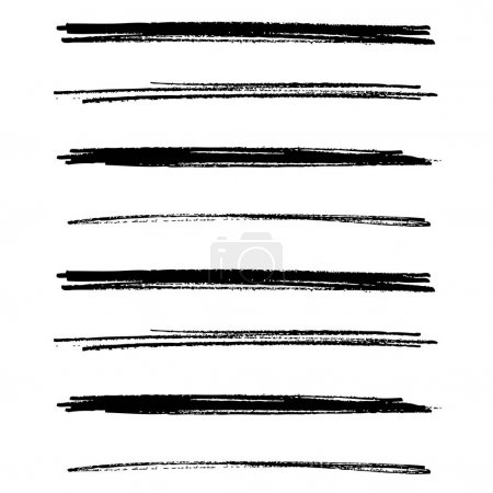 Illustration for Hand drawn horizontal stripes pattern, vector background - Royalty Free Image