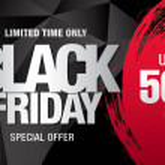 Black friday sale banner, vector illustration...