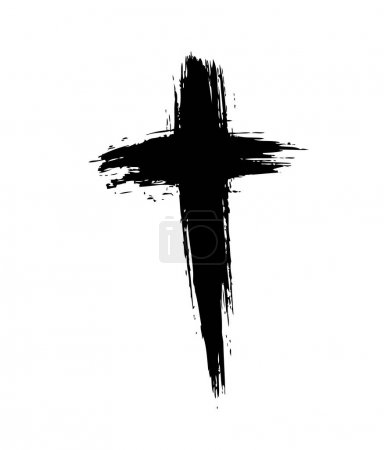 brush painted cross