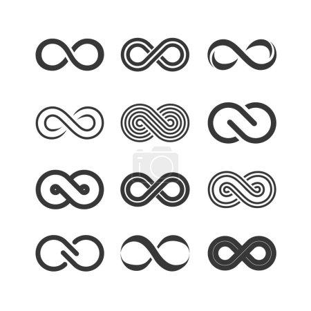 Illustration pour Jeu de symboles infinis, illustration vectorielle - image libre de droit