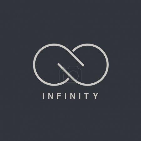 Illustration for Infinity symbol logotype, vector illustration - Royalty Free Image