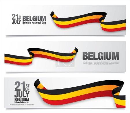 Belgium national day banners set