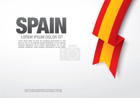 Illustration for Hispanic Day banner, vector illustration - Royalty Free Image