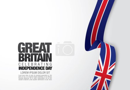 Flag of Great Britain card template